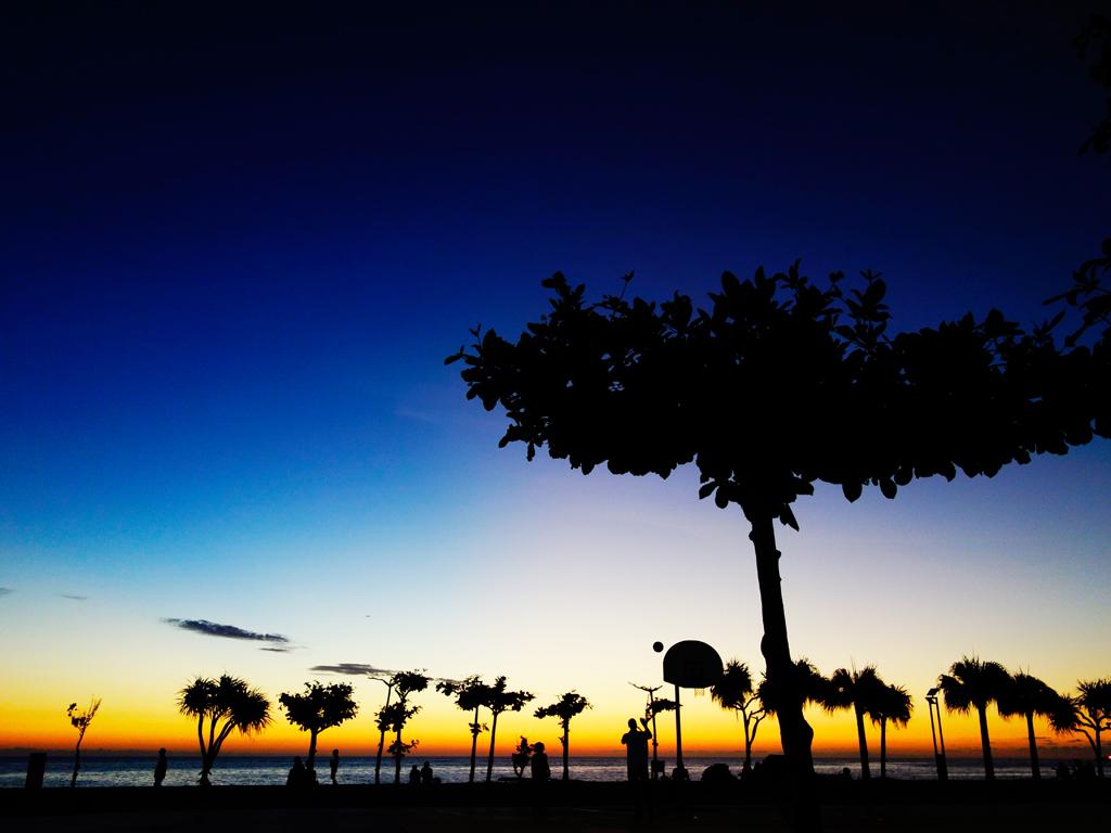 アラハビーチの夕日